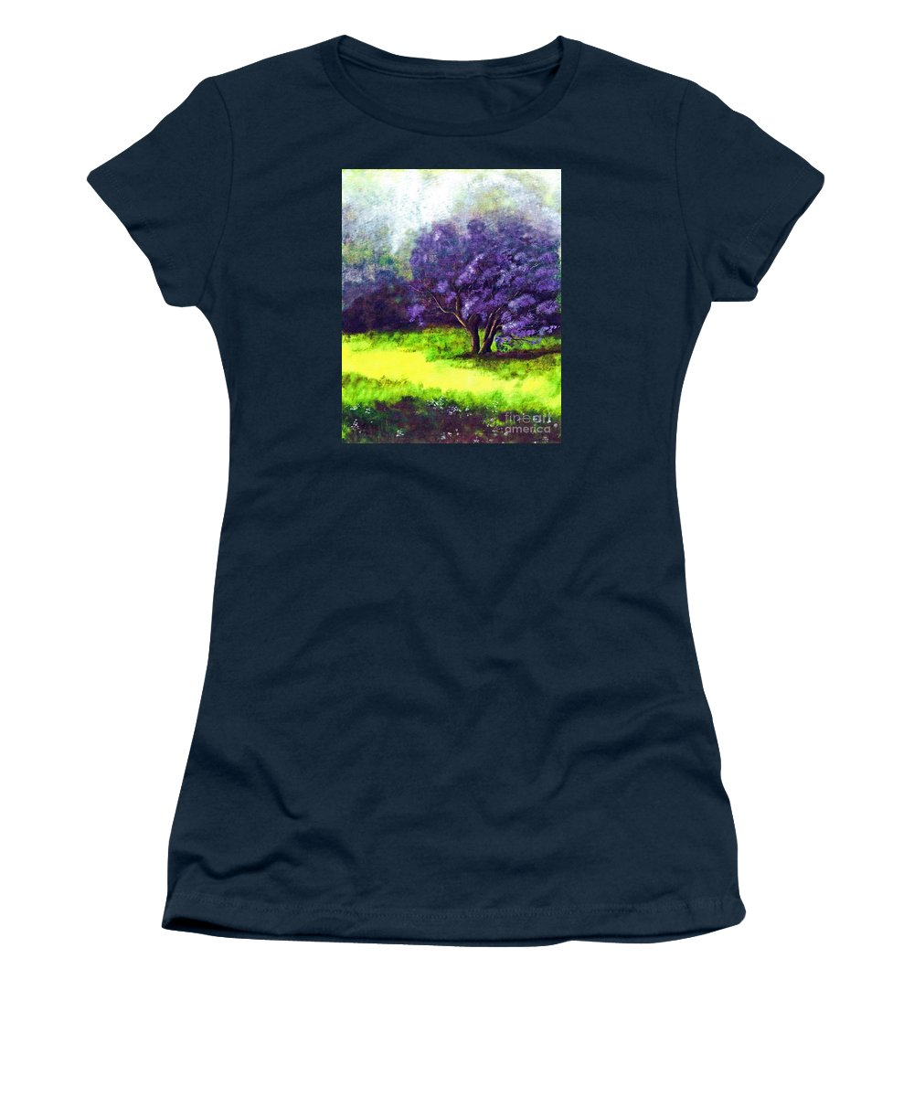 Fine Art Print Women's T-Shirt featuring the painting Summer Mist by Patricia Griffin Brett