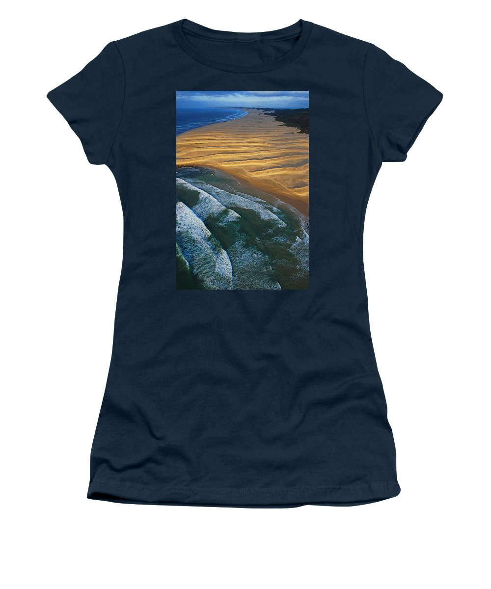 Coast Women's T-Shirt (Athletic Fit) featuring the photograph Sun Rise Coast by Skip Hunt