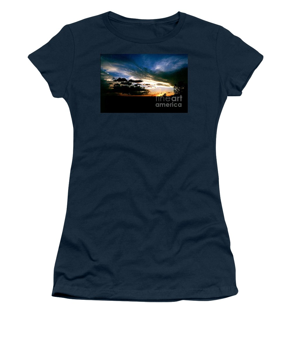 Sunset Women's T-Shirt (Athletic Fit) featuring the photograph Sunset At The North Rim by Kathy McClure