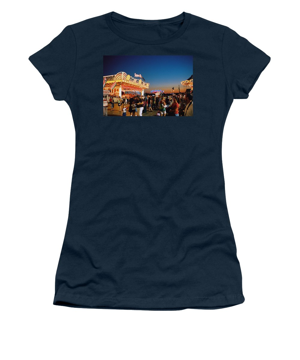 Board Walk Women's T-Shirt (Athletic Fit) featuring the photograph Super Himalaya by Steve Karol