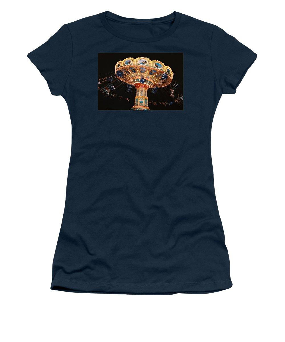 Boardwalk Women's T-Shirt featuring the photograph Swing by Steve Karol