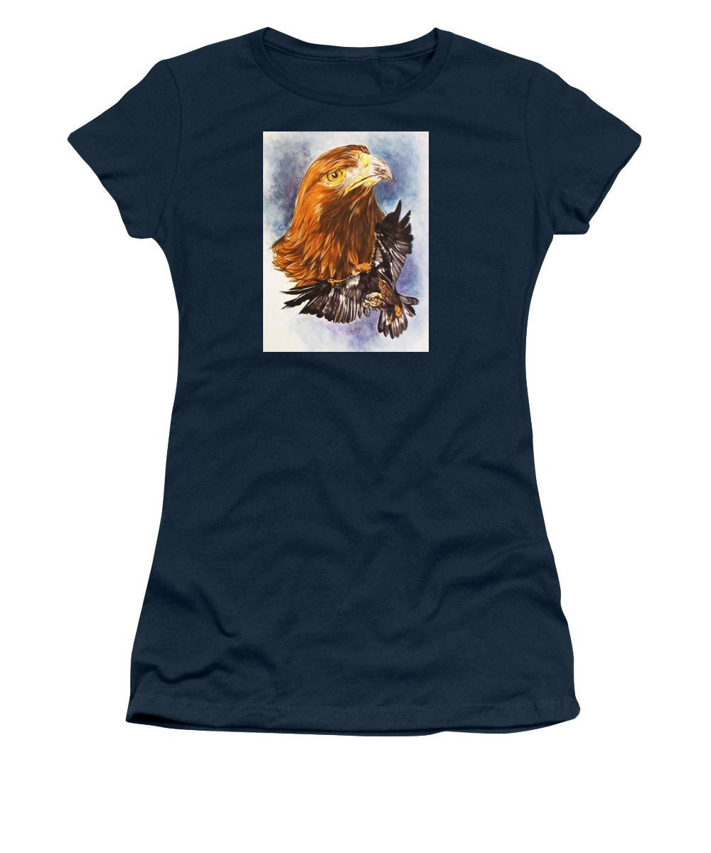 Eagle Women's T-Shirt (Athletic Fit) featuring the mixed media Tenacity by Barbara Keith