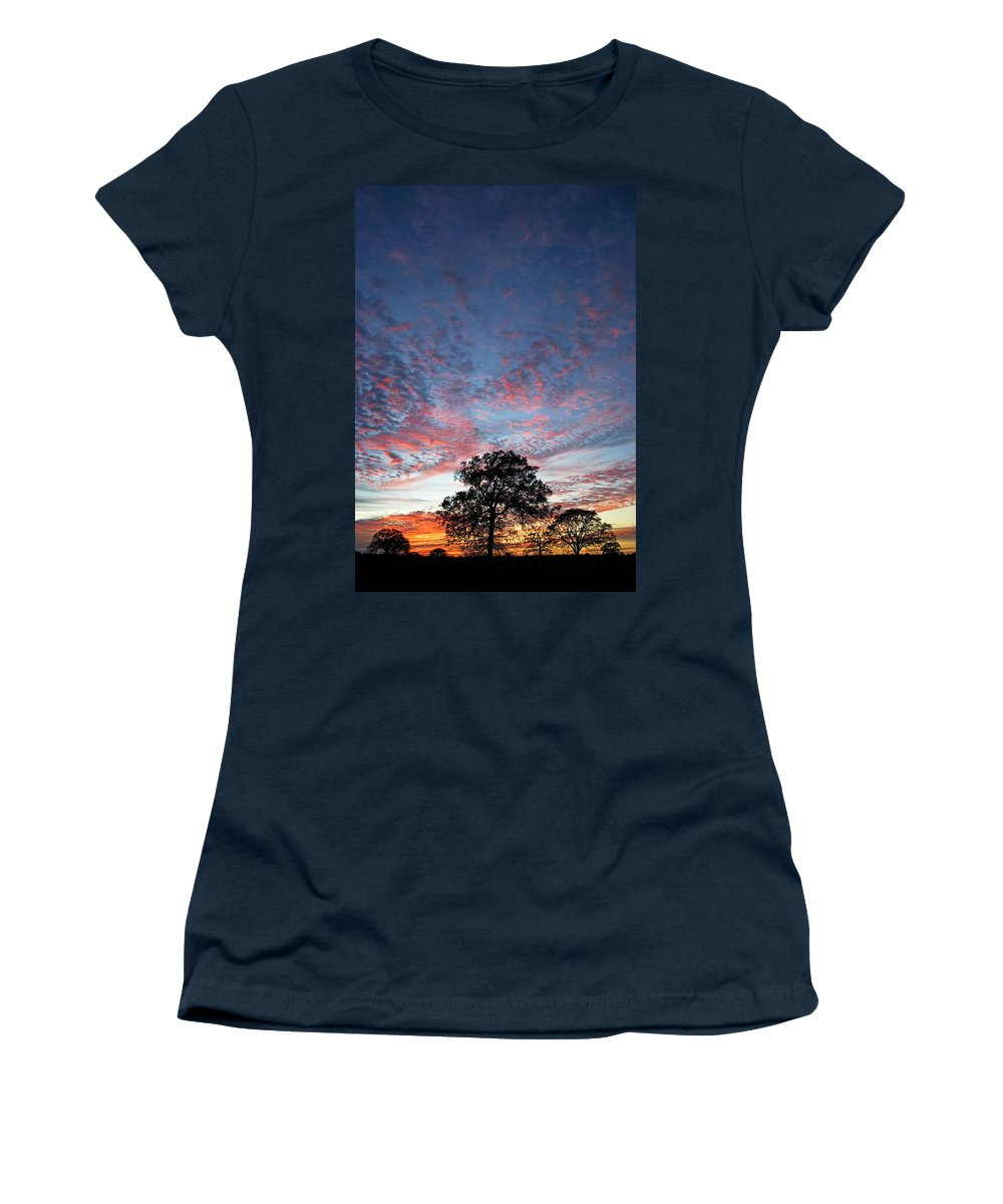 Tree Women's T-Shirt (Athletic Fit) featuring the photograph Texas Sunset by Skip Hunt