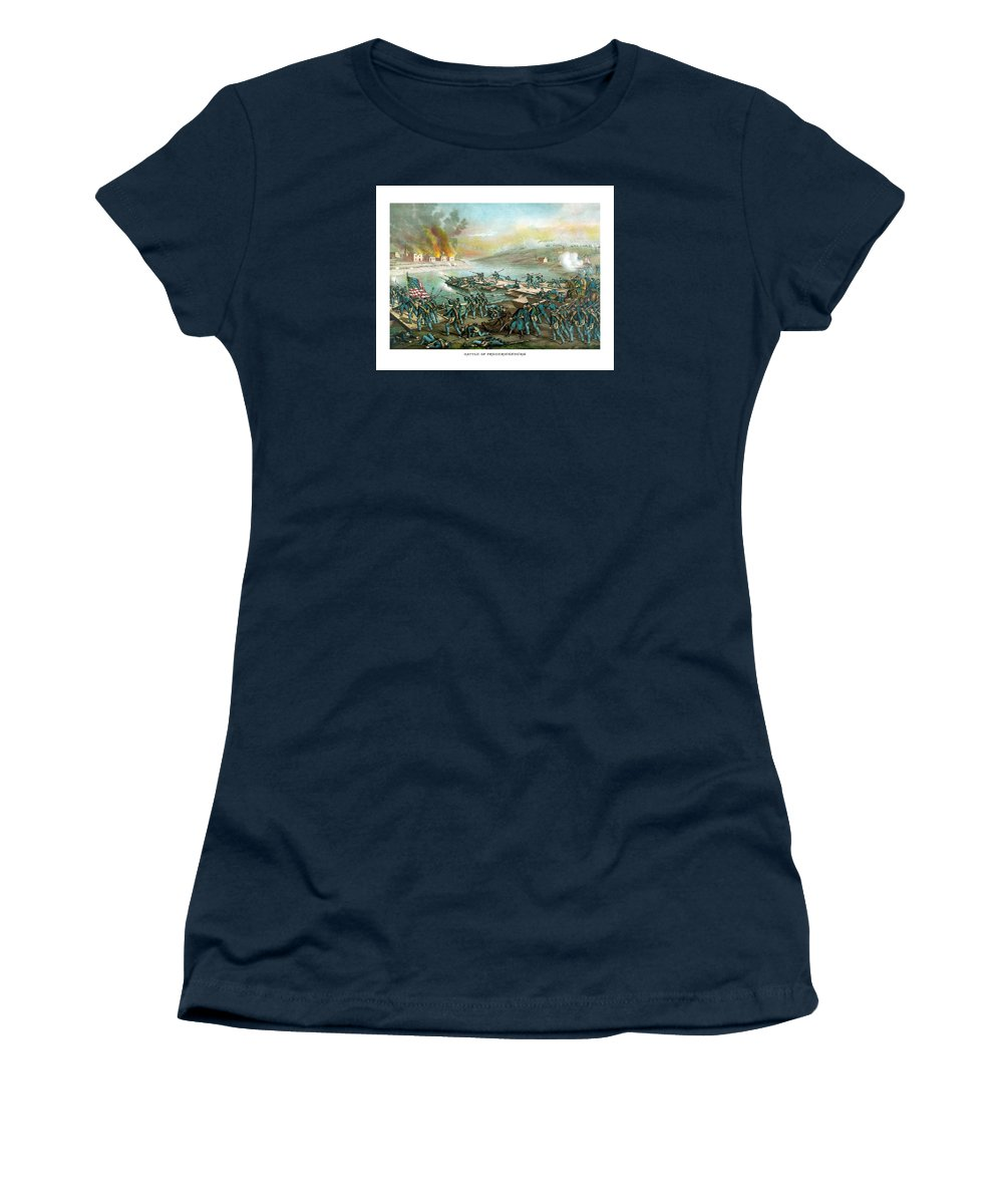 Civil War Women's T-Shirt featuring the painting The Battle Of Fredericksburg by War Is Hell Store