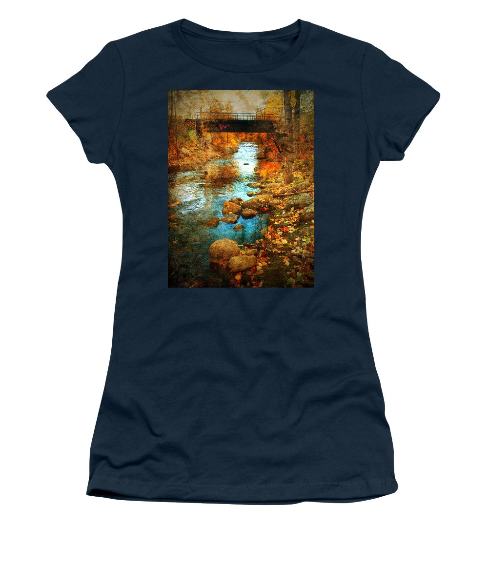 Penticton Women's T-Shirt featuring the photograph The Bridge By Government Street by Tara Turner