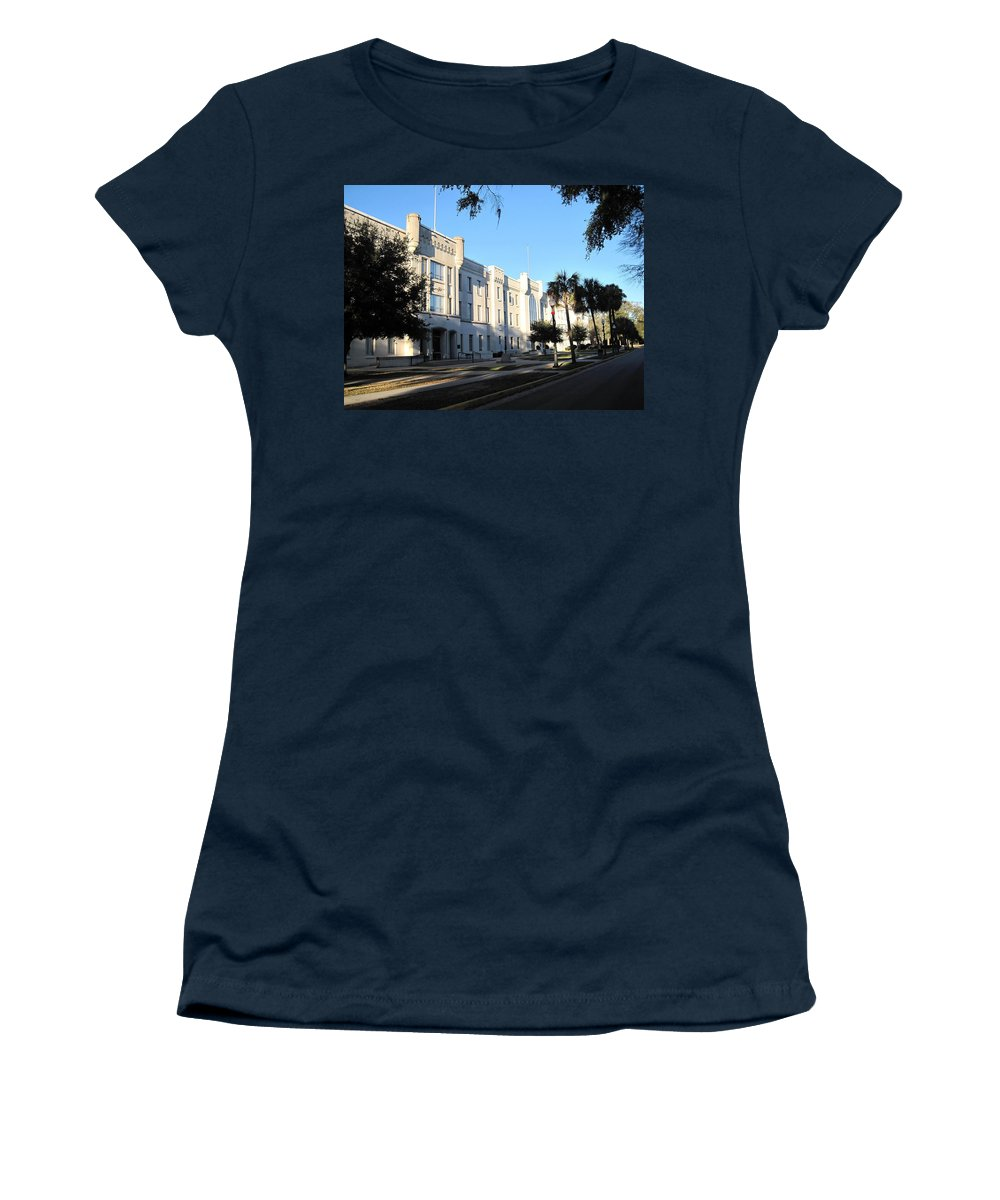Photography Women's T-Shirt featuring the photograph The Citadel In Charleston IIi by Susanne Van Hulst