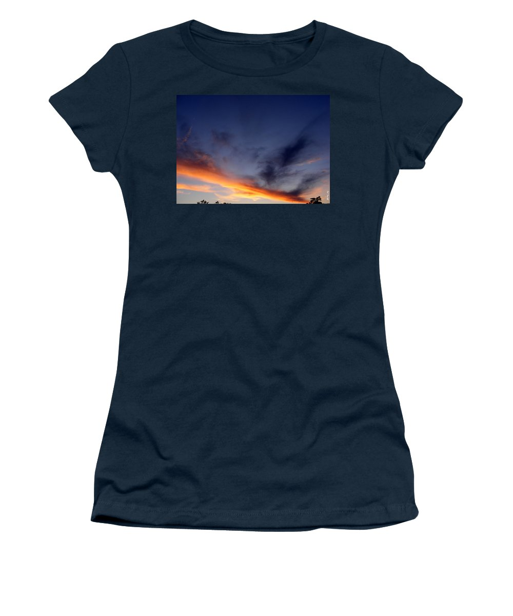 The Dividing Line Women's T-Shirt featuring the photograph The Dividing Line by Ed Smith