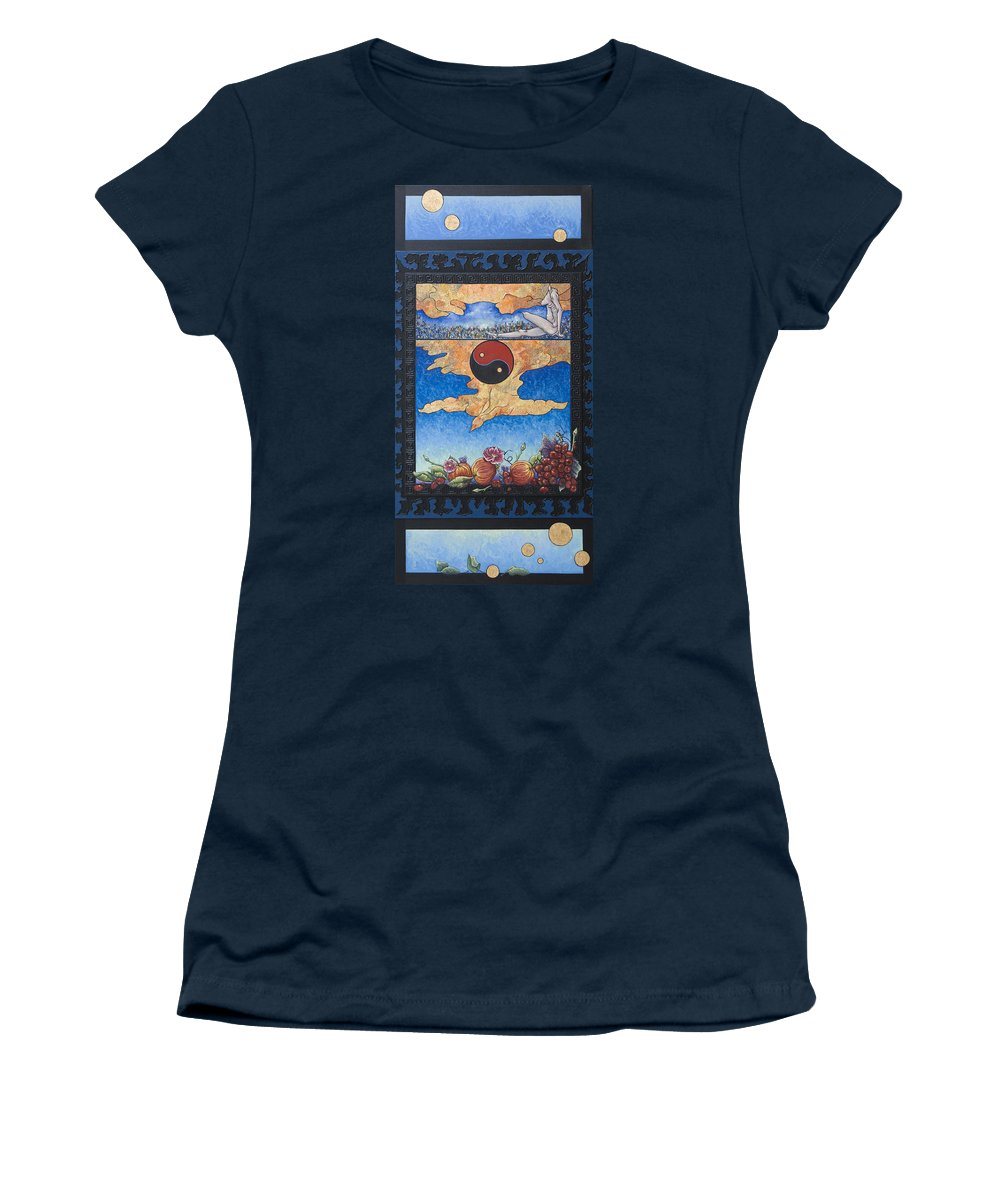 Karma Women's T-Shirt (Athletic Fit) featuring the painting The Dream by Judy Henninger