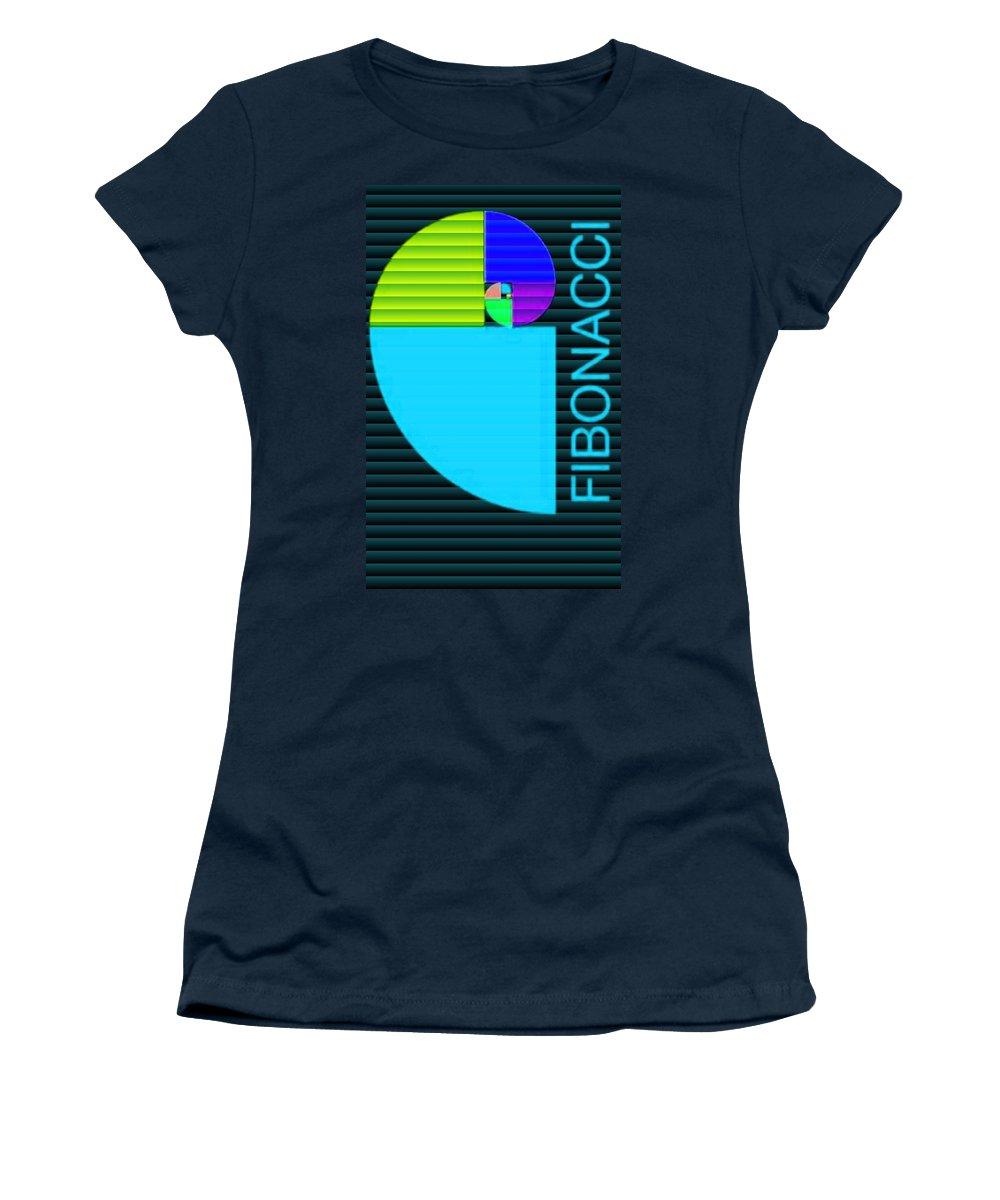 Announcement Women's T-Shirt featuring the photograph The Fibonacci Equation Catus 1 No. 2 V B by Gert J Rheeders