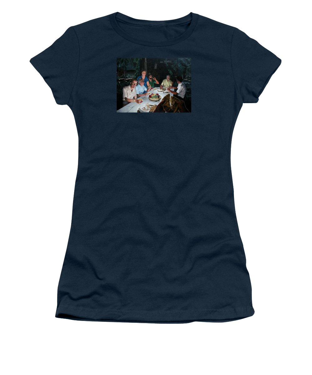 Last Supper Women's T-Shirt (Athletic Fit) featuring the painting The Last Supper by Dave Martsolf