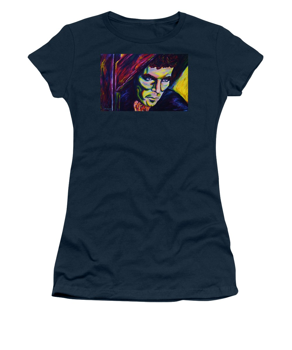 Portraits Women's T-Shirt (Athletic Fit) featuring the painting The Vampire Lestat by Carole Spandau