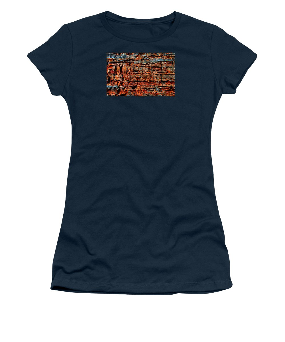 Glacier. National Women's T-Shirt featuring the photograph The Writing Is On The Wall by Dave Martsolf