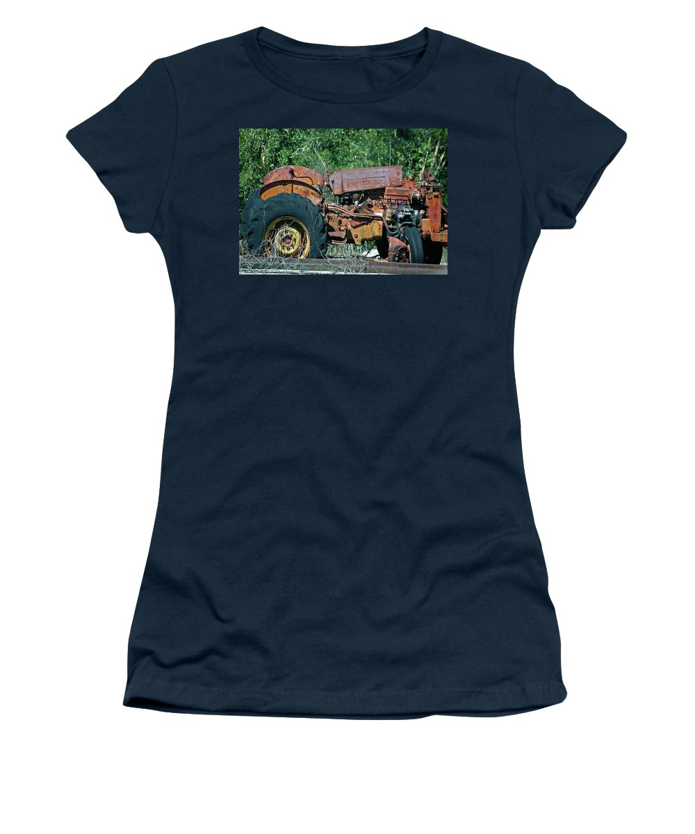 Tractor Women's T-Shirt featuring the digital art The Wrong Side Of The Tracks by DigiArt Diaries by Vicky B Fuller
