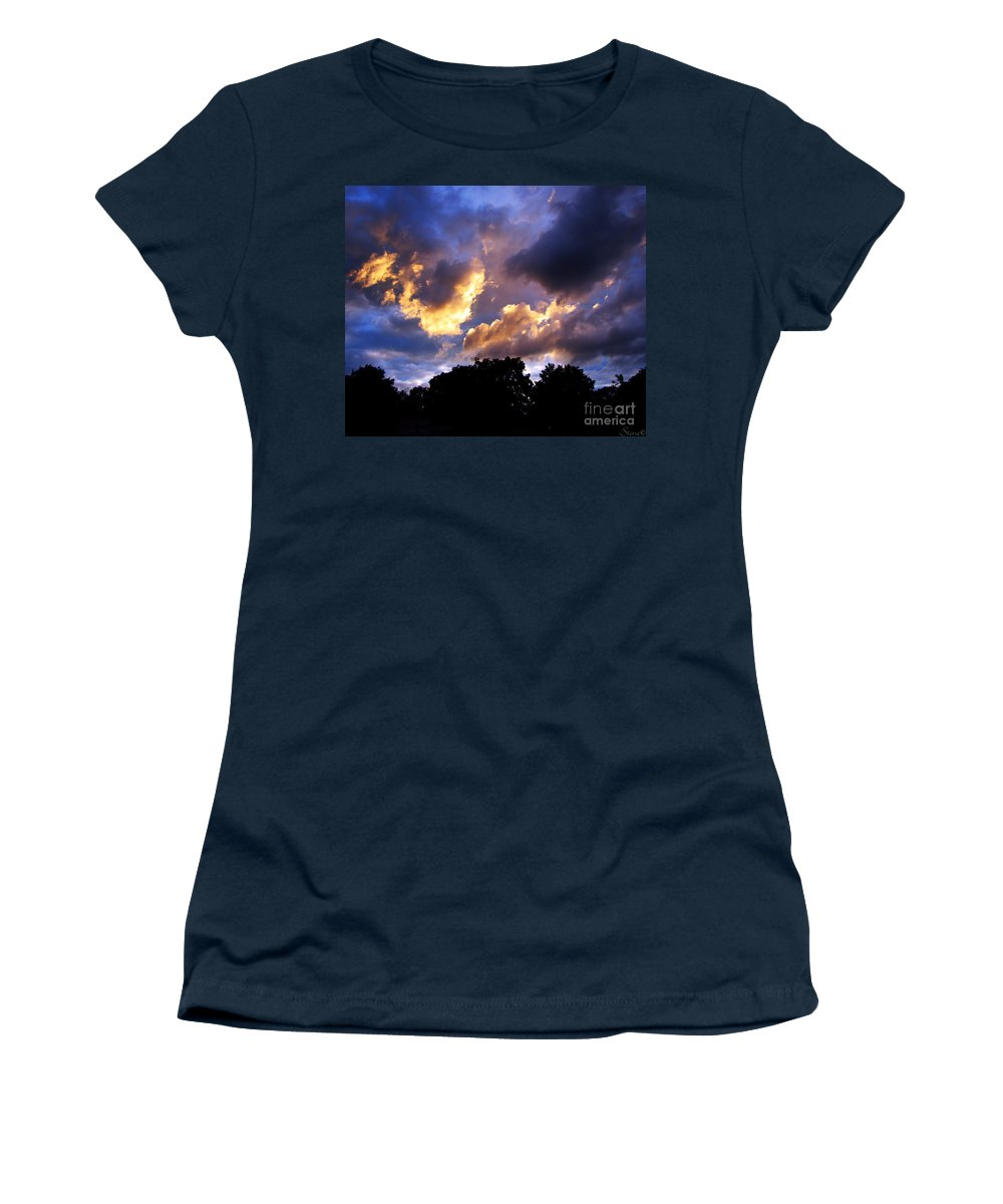 Sunset Women's T-Shirt featuring the photograph Thomson Sky by September Stone