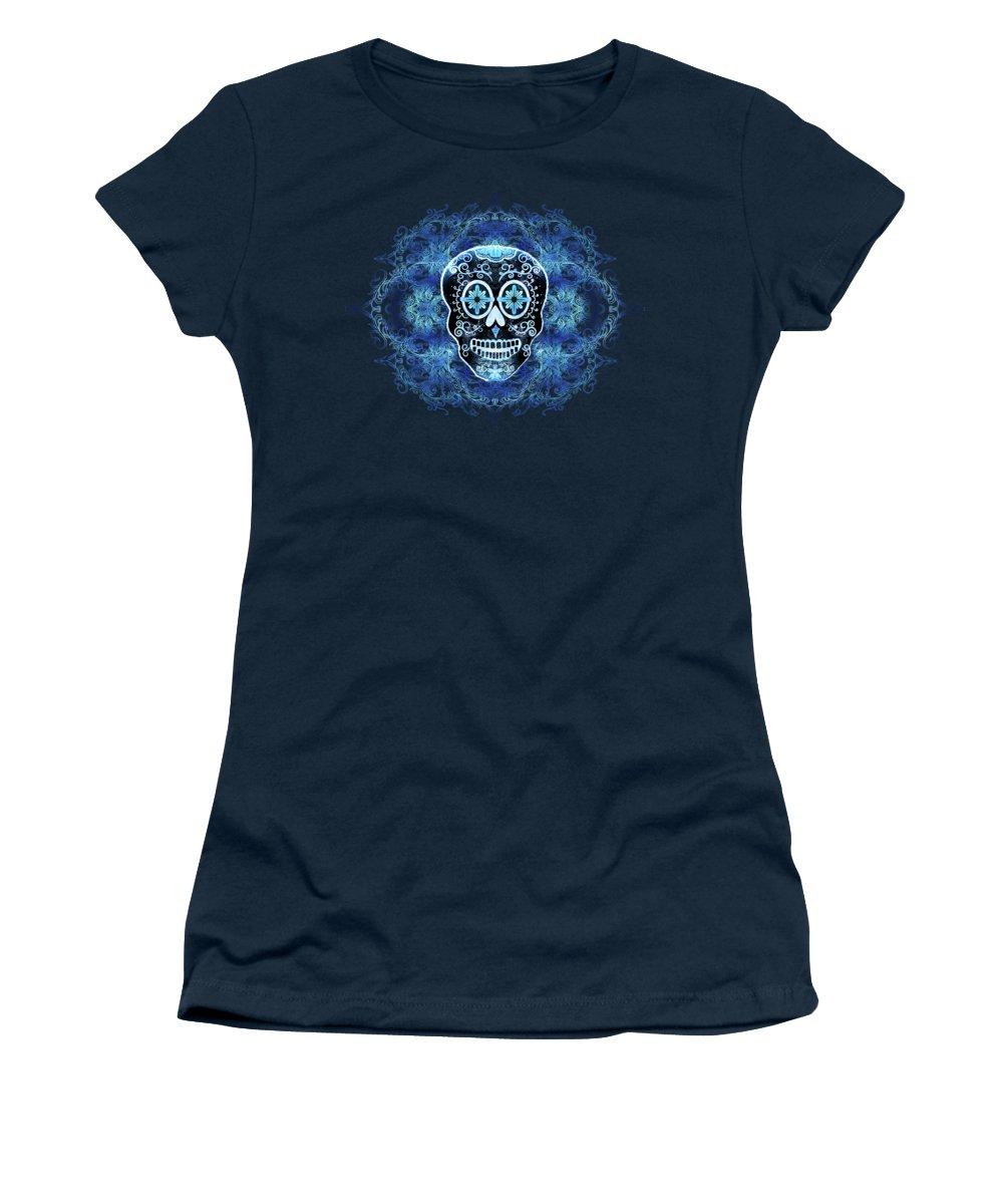 Calavera Women's T-Shirt featuring the digital art Three Amigos by Tammy Wetzel