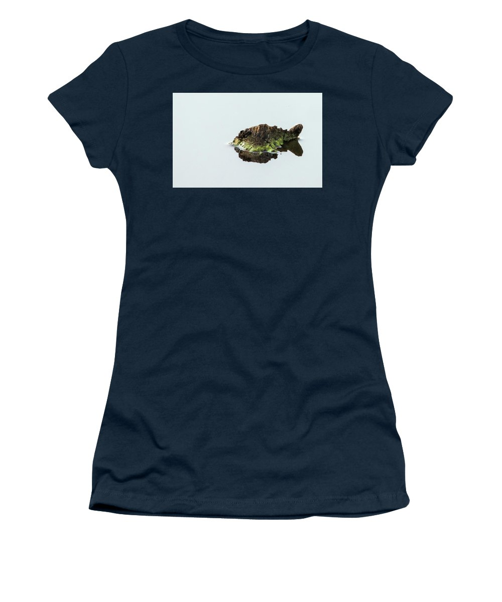 Turtle Women's T-Shirt featuring the photograph Turtle or Mountain by Randy J Heath