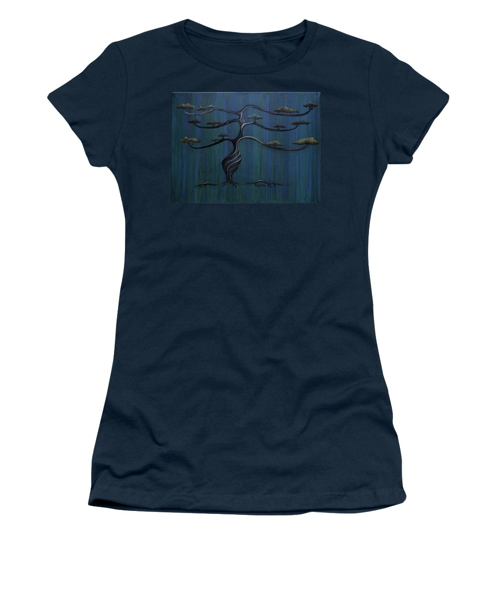 Tree Women's T-Shirt featuring the painting Twisted Oak by Kelly Jade King