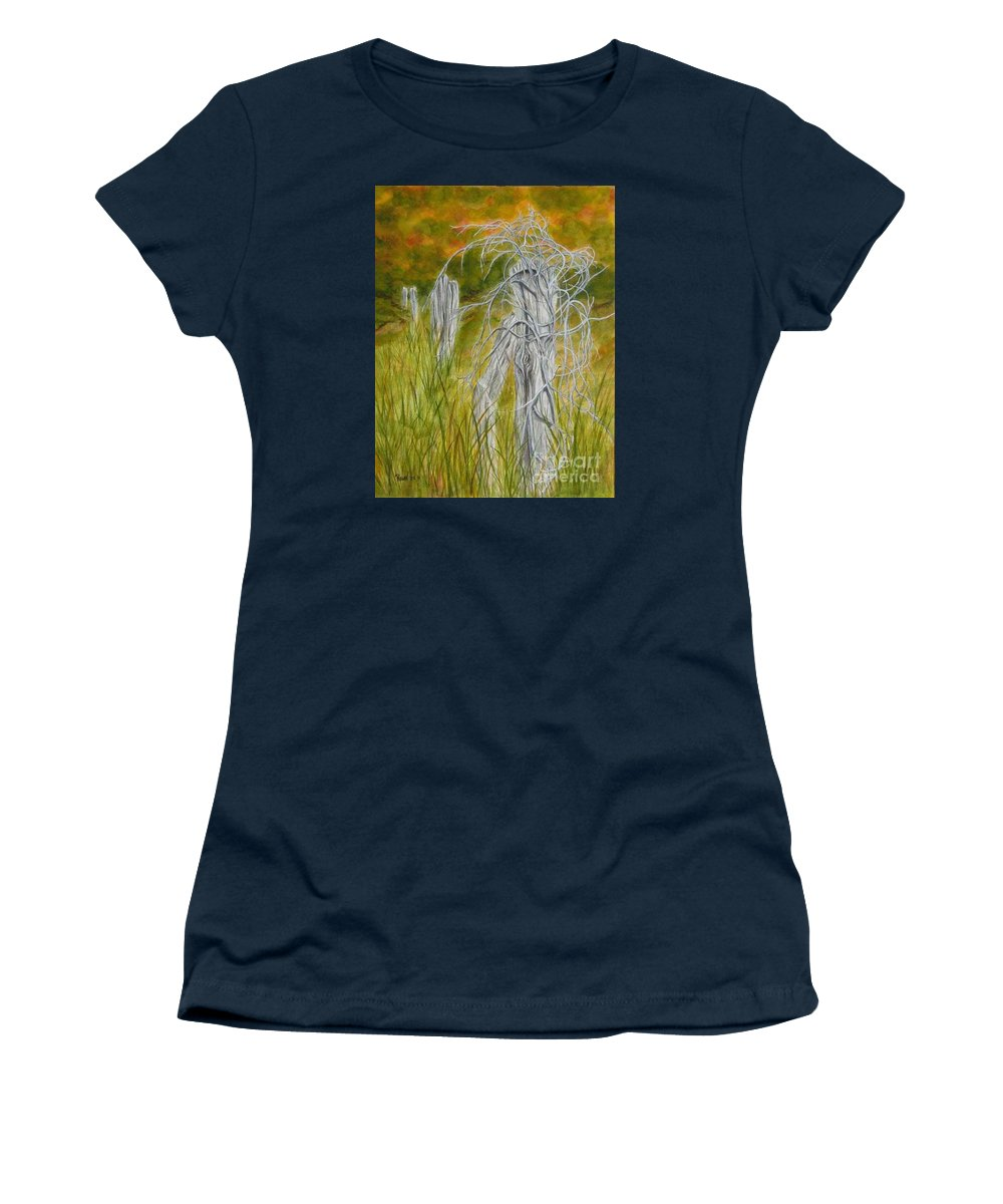 Landscape Women's T-Shirt featuring the painting Twisted by Regan J Smith