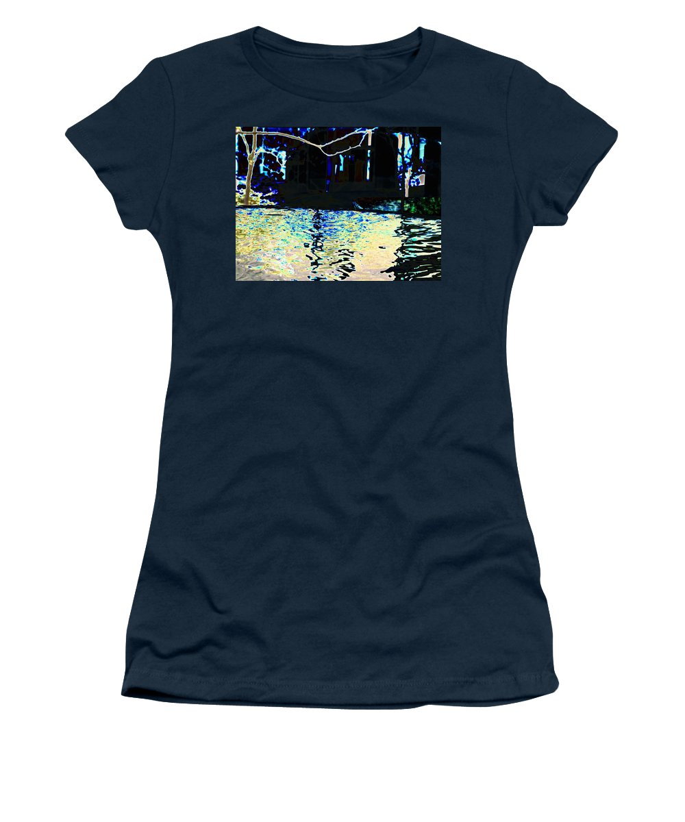 Seattle Women's T-Shirt (Athletic Fit) featuring the photograph Urban Waterfall by Tim Allen