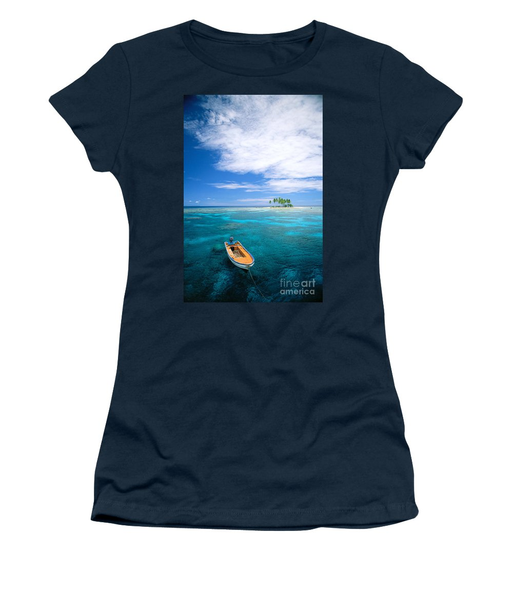 Blue Women's T-Shirt (Athletic Fit) featuring the photograph View Of Micronesia by Rick Gaffney - Printscapes