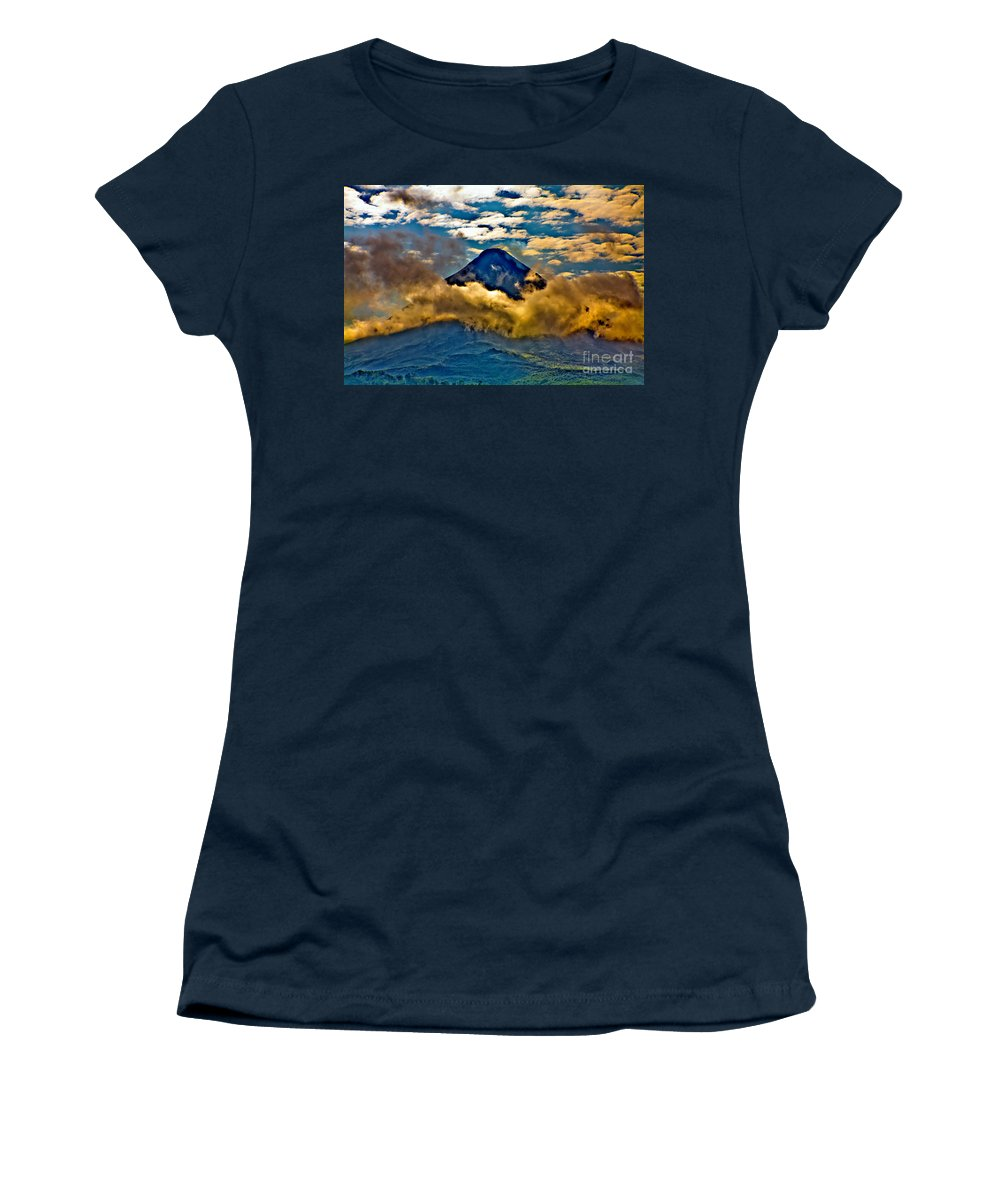 Volcano Women's T-Shirt featuring the photograph Volcano 2 by Madeline Ellis