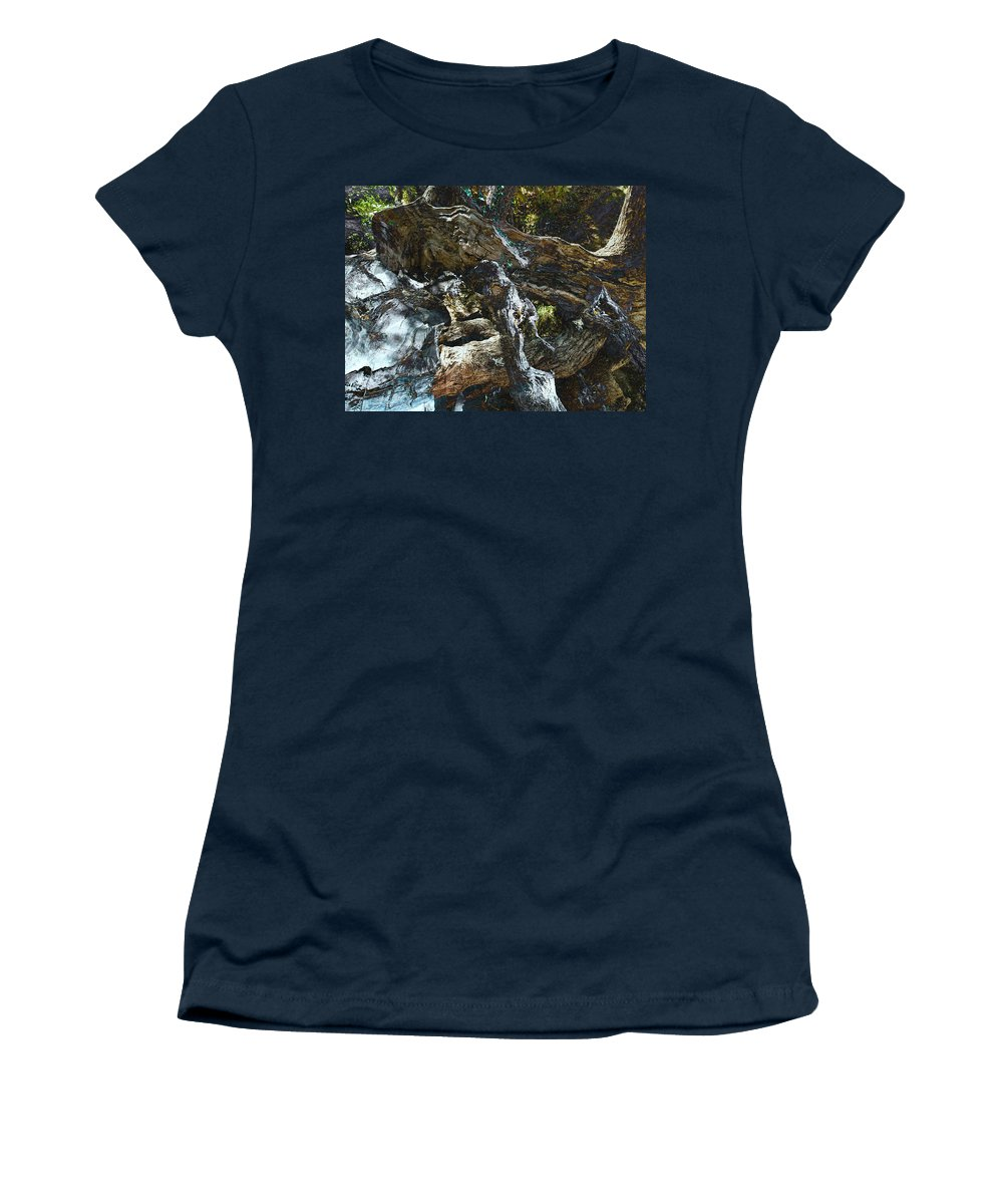 Trees Women's T-Shirt featuring the photograph Washed Away by Kelly Jade King
