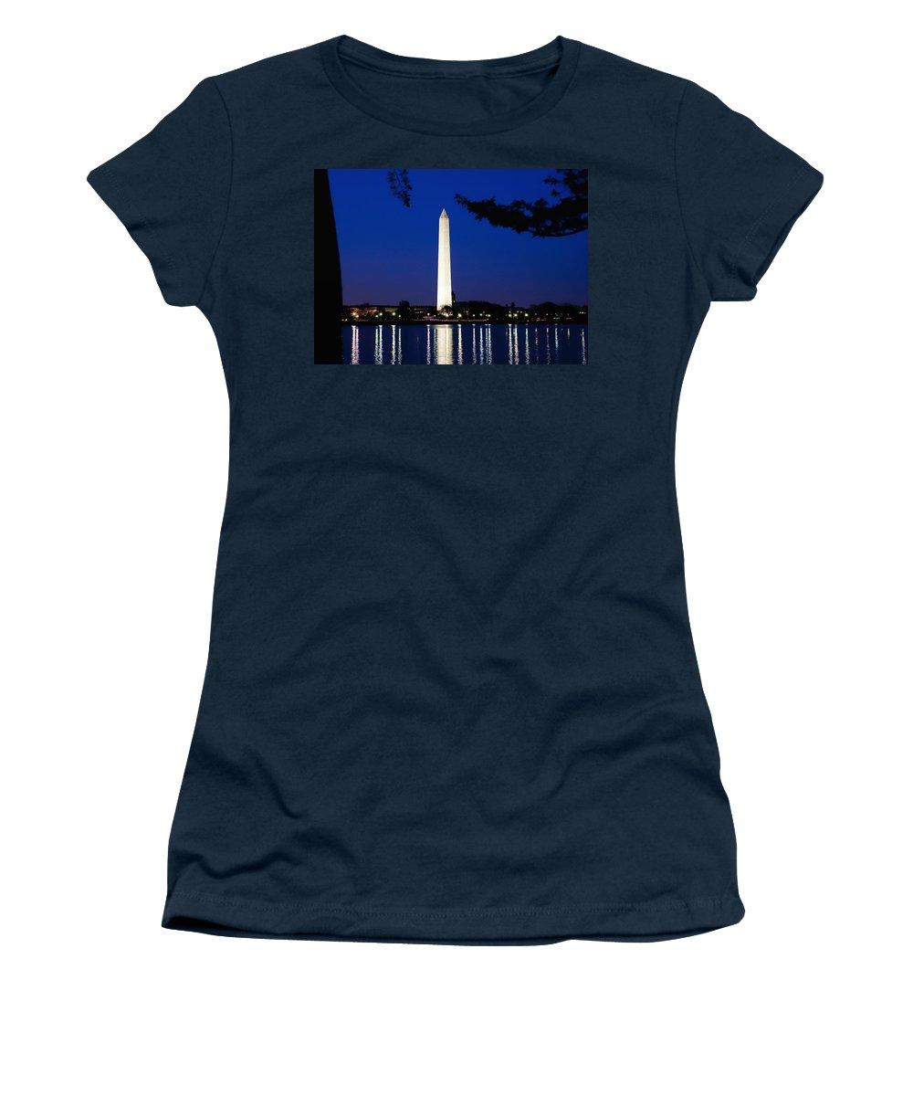 Landscape Women's T-Shirt (Athletic Fit) featuring the photograph Washington Monument by John K Sampson
