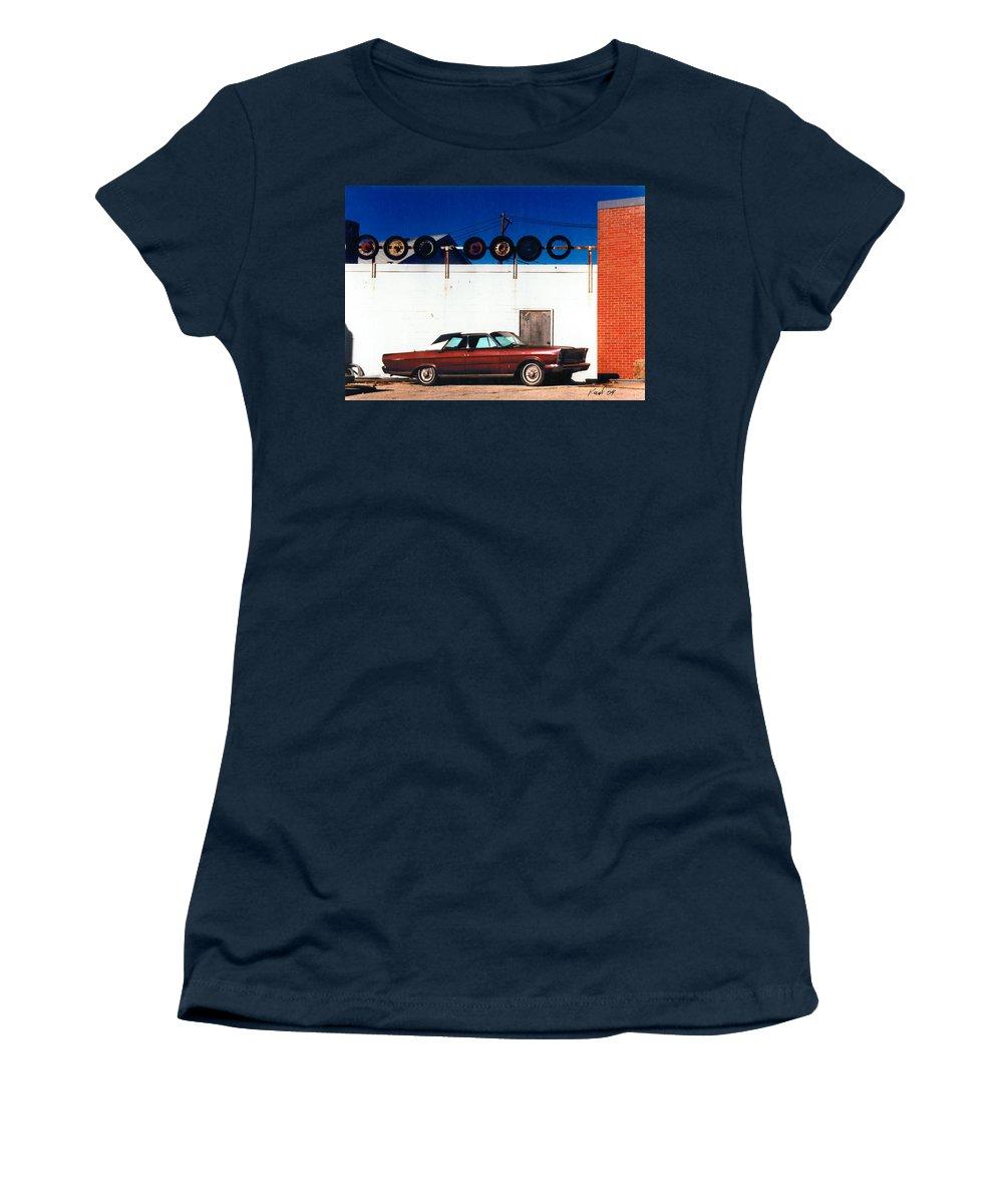Cars Women's T-Shirt featuring the photograph Wheels by Steve Karol
