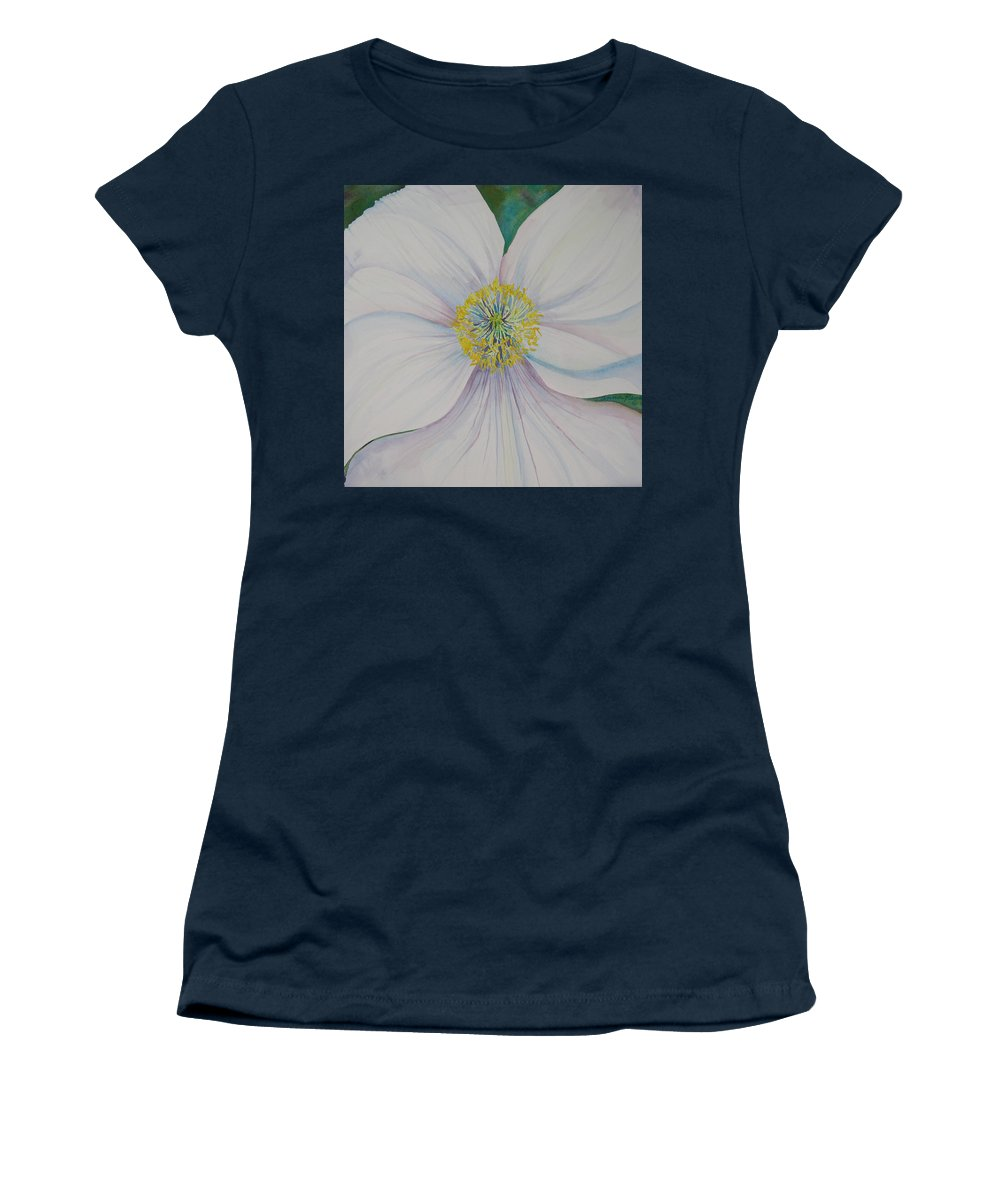 Poppy Women's T-Shirt featuring the painting White Poppy by Anna Penny