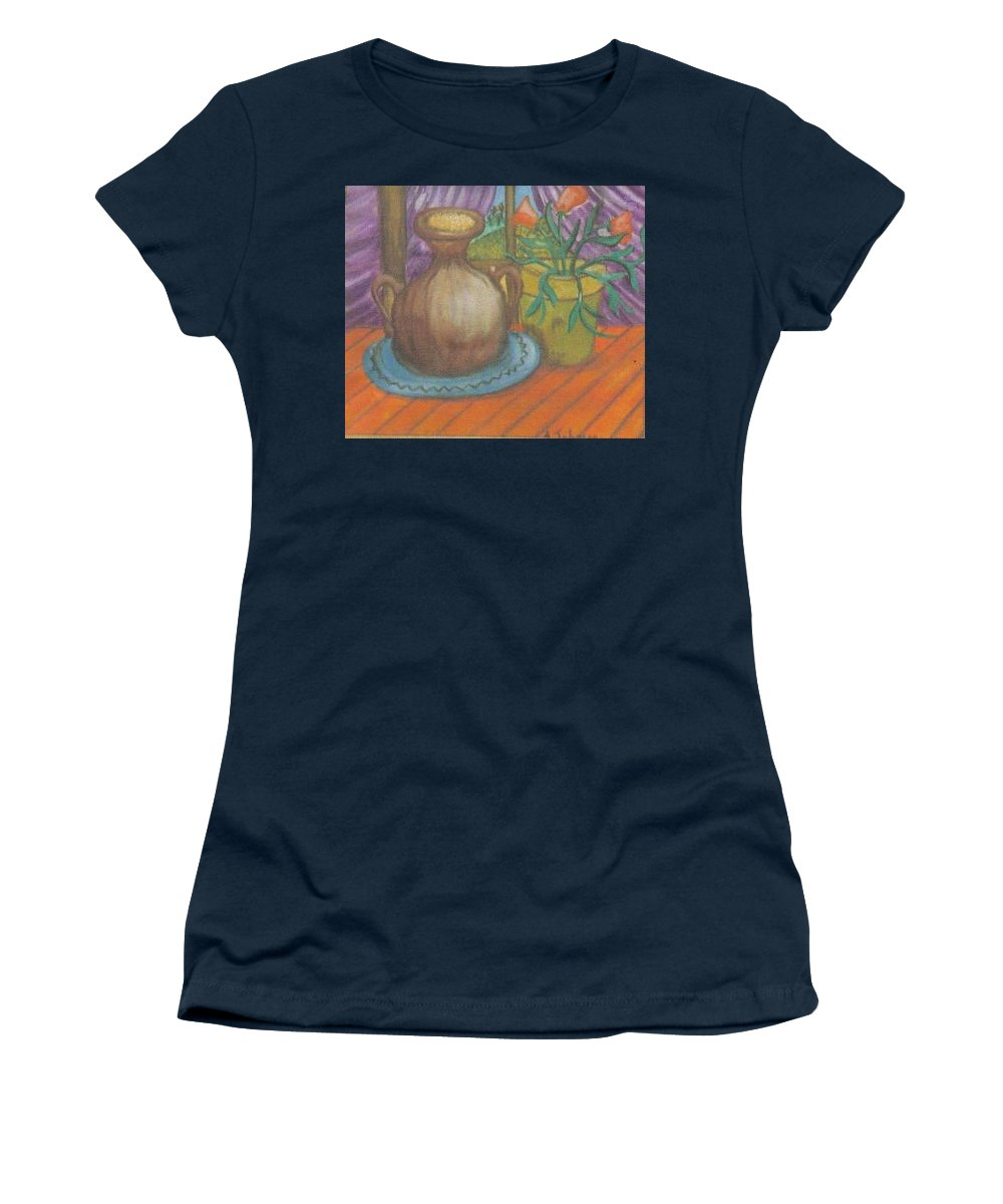 Still Life Women's T-Shirt featuring the painting Work by Andrew Johnson