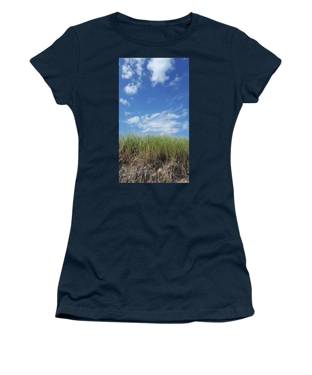 Grass Women's T-Shirt featuring the photograph Beach Grass by Trevor Slauenwhite