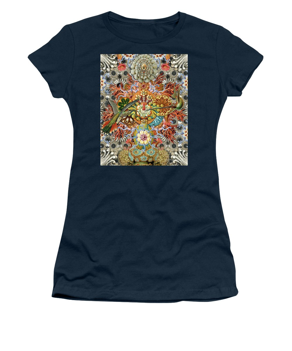 Hummingbird Women's T-Shirt featuring the digital art Forms of Nature #1 by Kenneth Rougeau