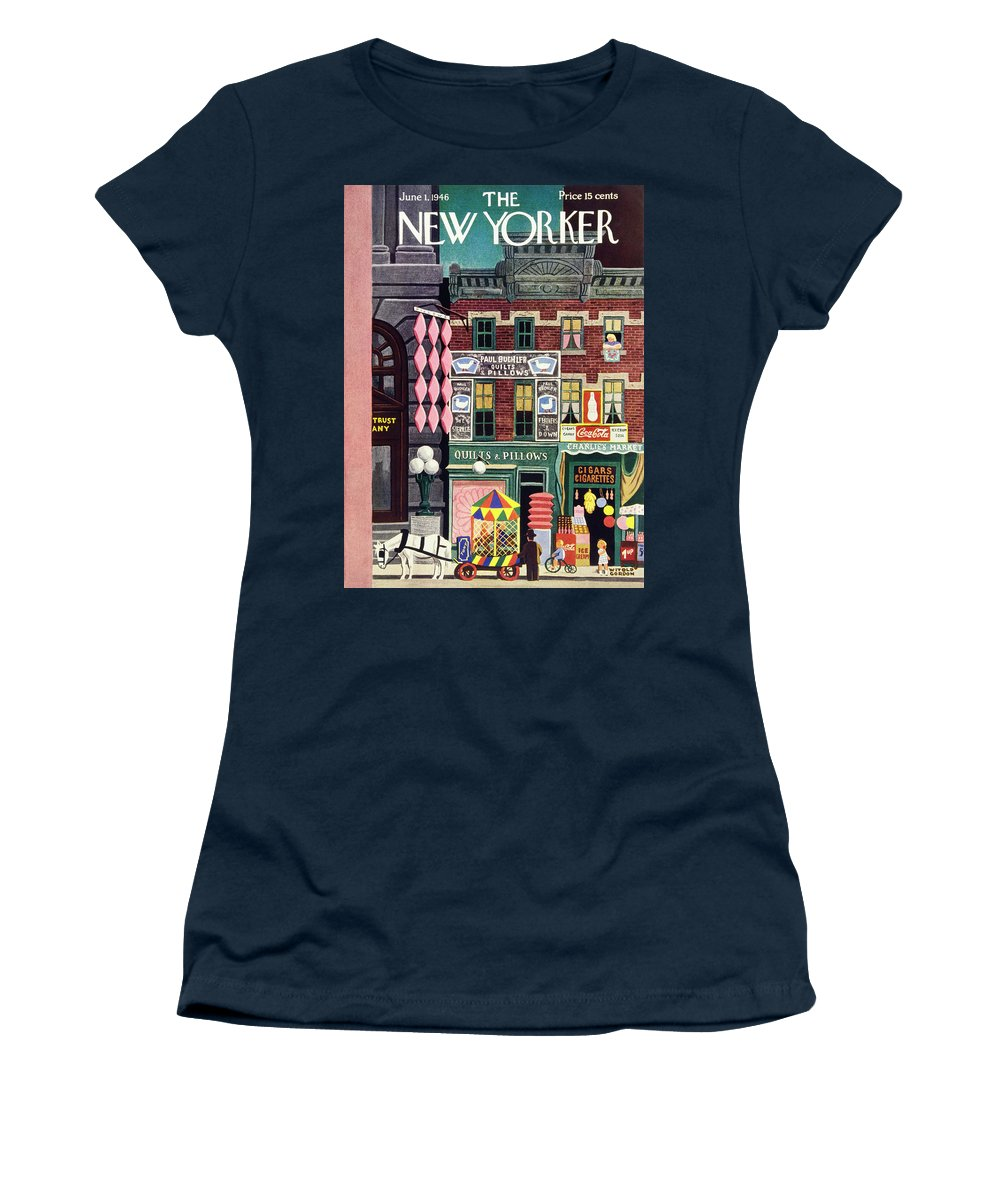 Illustration Women's T-Shirt featuring the painting New Yorker June 1, 1946 by Witold Gordon