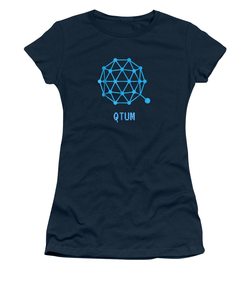 men's Novelty T-shirts Women's T-Shirt featuring the digital art Qtum Cryptocurrency Crypto Tee Shirt by Unique Tees