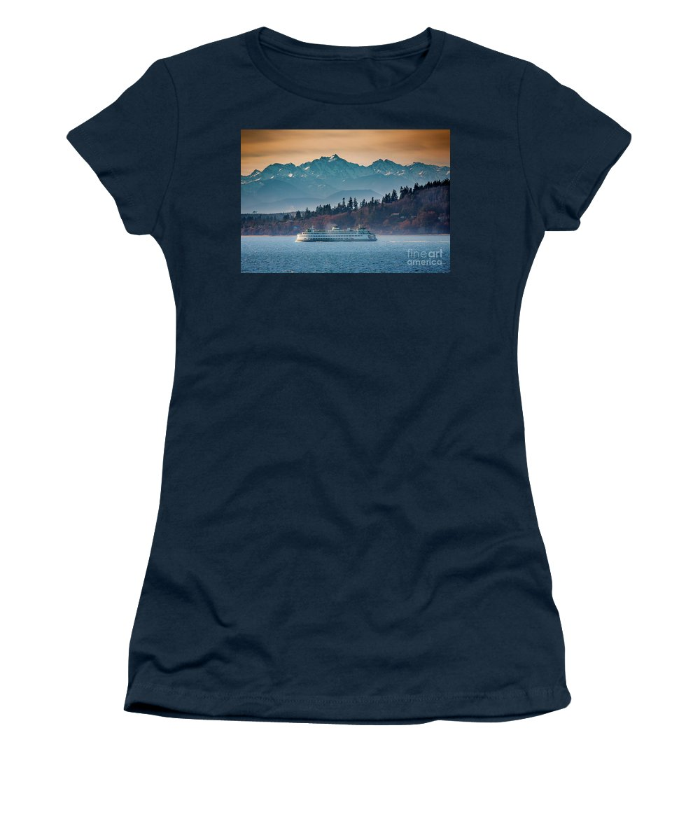 Olympic Mountains Photographs Women's T-Shirts