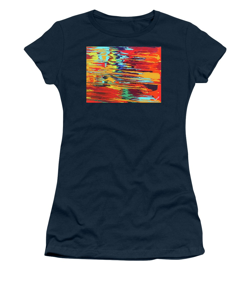 Fusionart Women's T-Shirt featuring the painting Zap by Ralph White