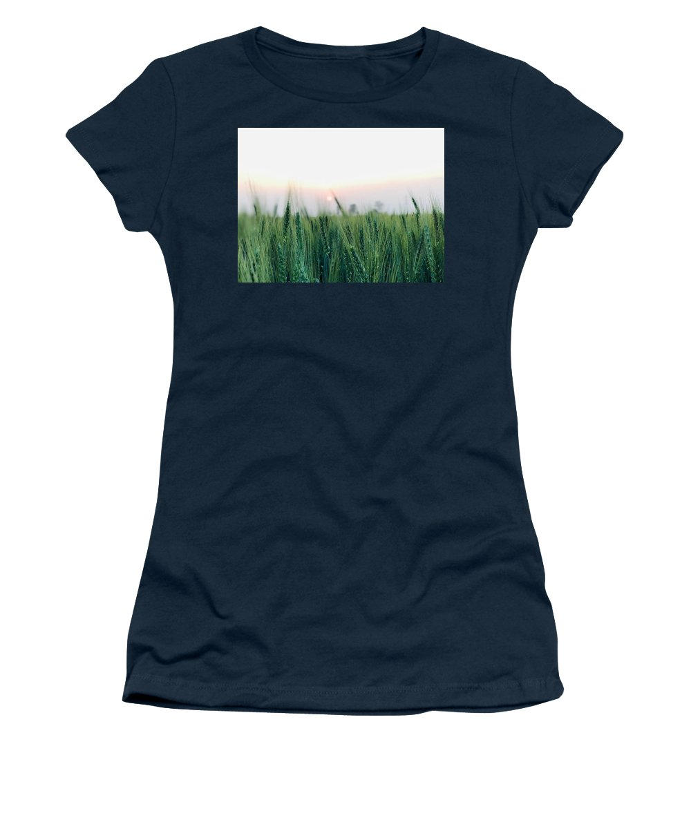 Lanscape Women's T-Shirt featuring the photograph Greenery by Prashant Dalal