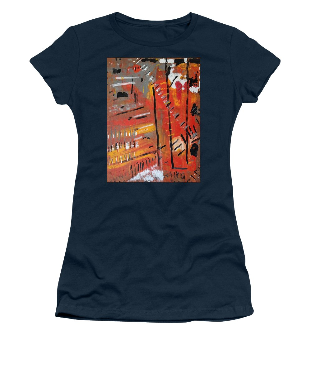 Colorado Women's T-Shirt featuring the painting Looking Like October by Pam Roth O'Mara