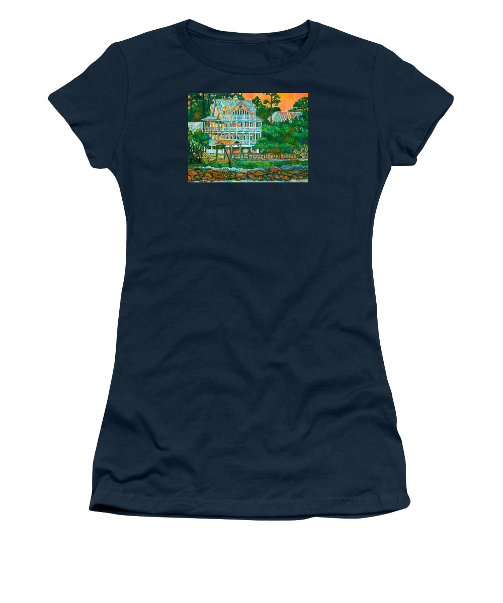 Landscape Women's T-Shirt featuring the painting Pawleys Island Evening by Kendall Kessler