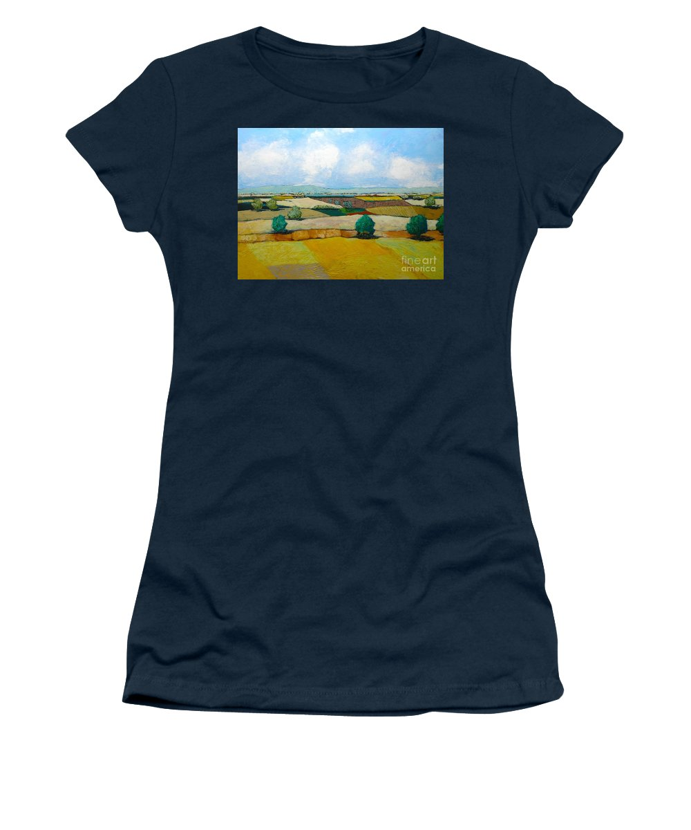 Landscape Women's T-Shirt featuring the painting Sears Point by Allan P Friedlander