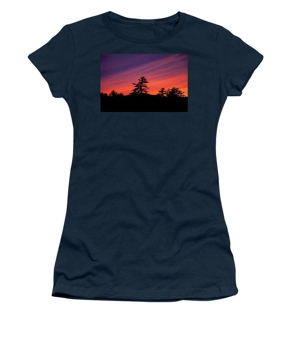 Sunset Women's T-Shirt featuring the photograph Summer Sunset by Trevor Slauenwhite