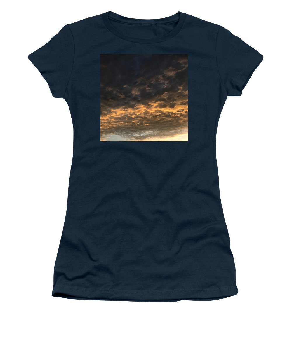 Women's T-Shirt featuring the photograph Texas Storm Clouds by Jose Machin