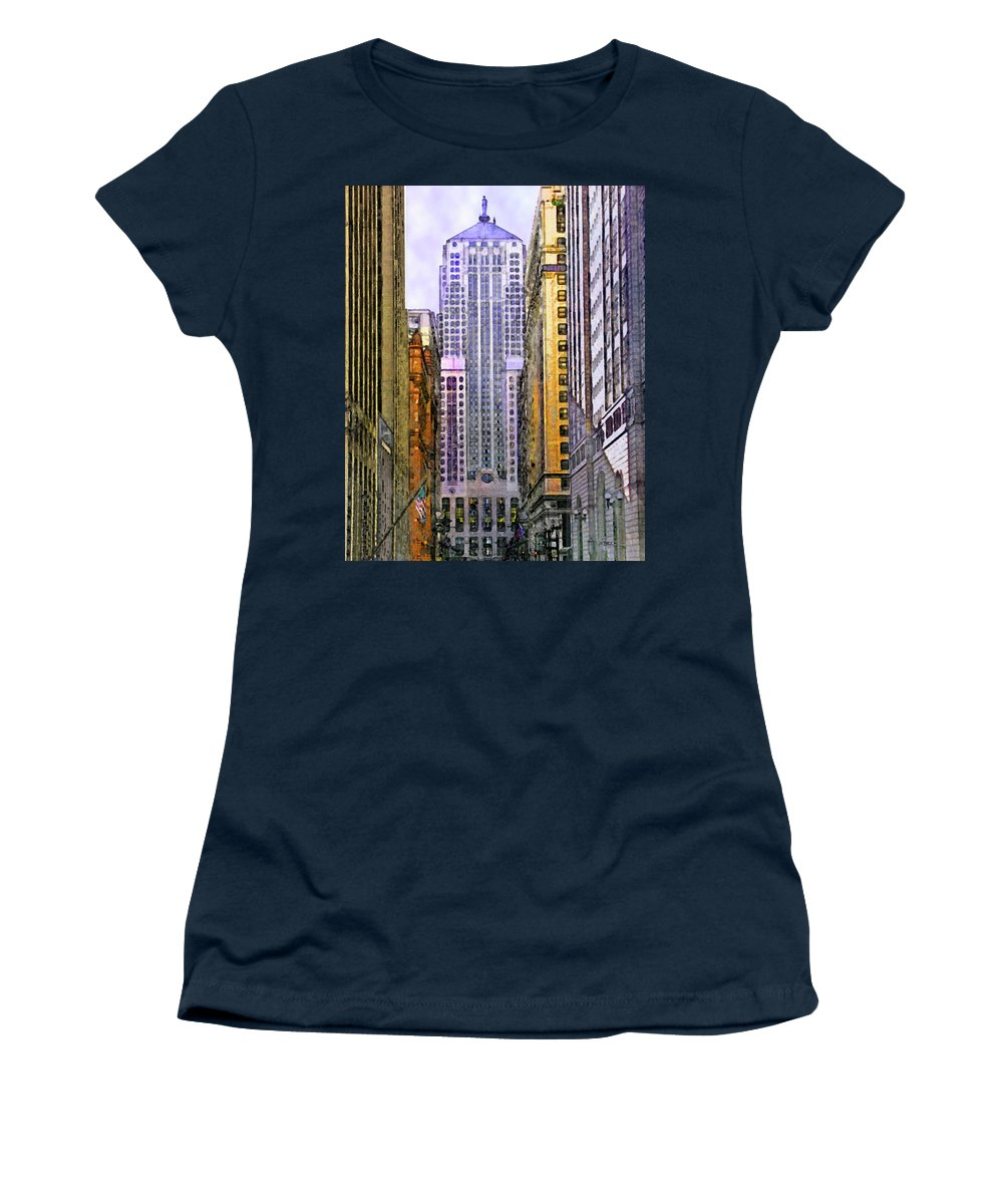 Trading Places Women's T-Shirt featuring the digital art Trading Places by John Robert Beck