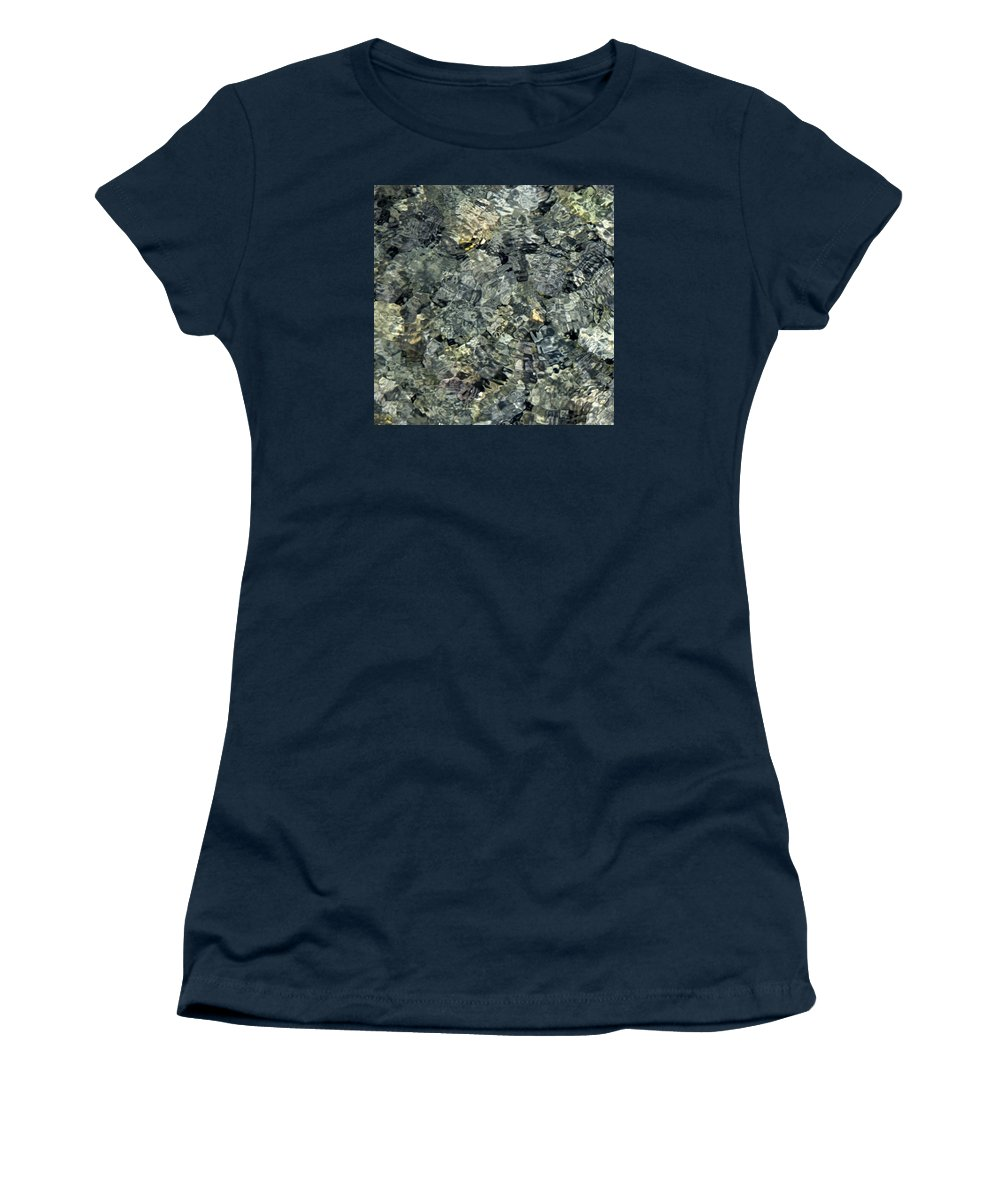 Water Women's T-Shirt featuring the photograph Water Rocks 1 by Andre Aleksis
