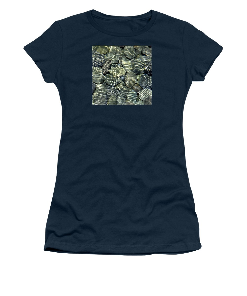 Water Women's T-Shirt featuring the photograph Water Rocks 2 by Andre Aleksis