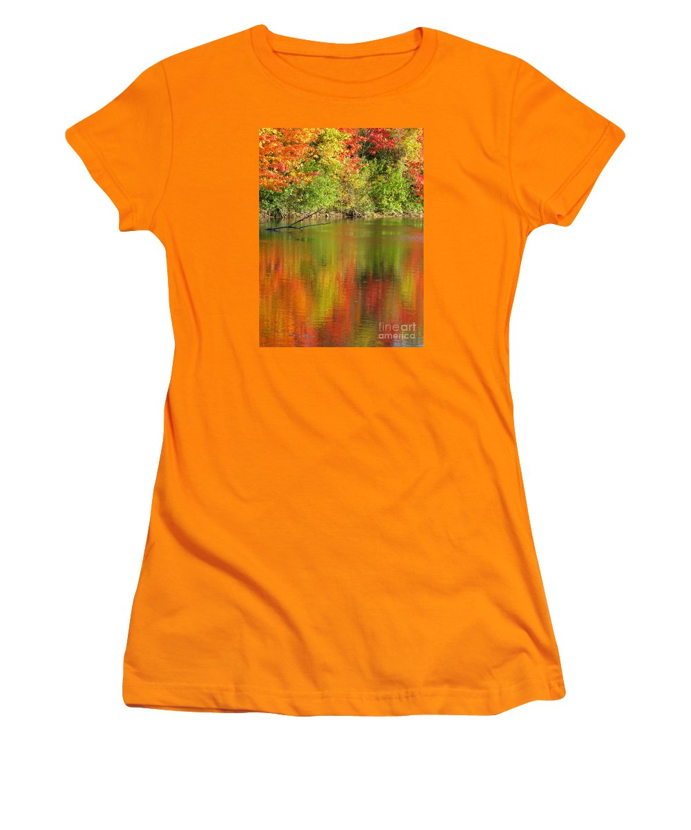Autumn Women's T-Shirt (Athletic Fit) featuring the photograph Autumn Iridescence by Ann Horn