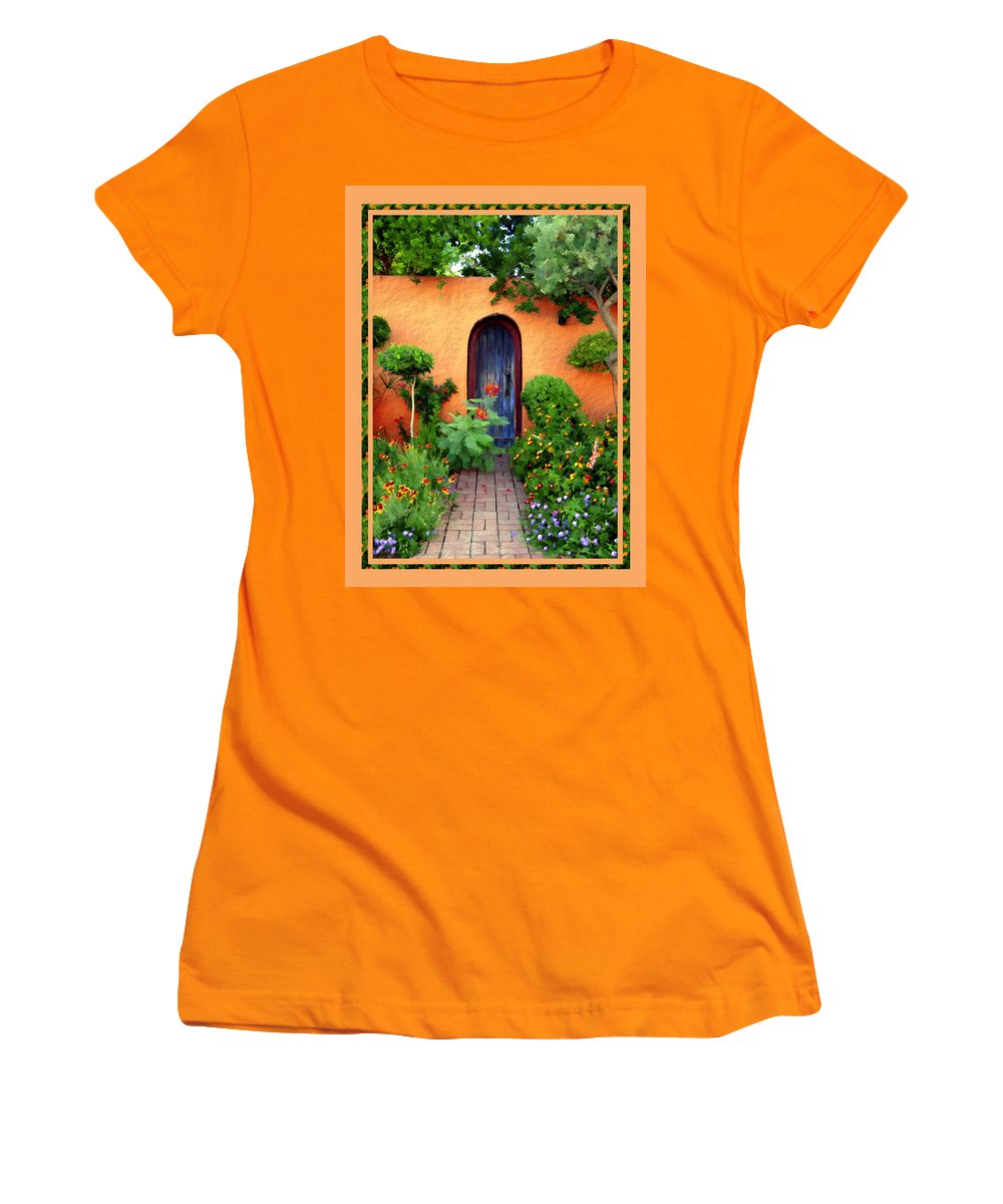 Garden Women's T-Shirt (Athletic Fit) featuring the photograph Garden Delights Mesilla by Kurt Van Wagner
