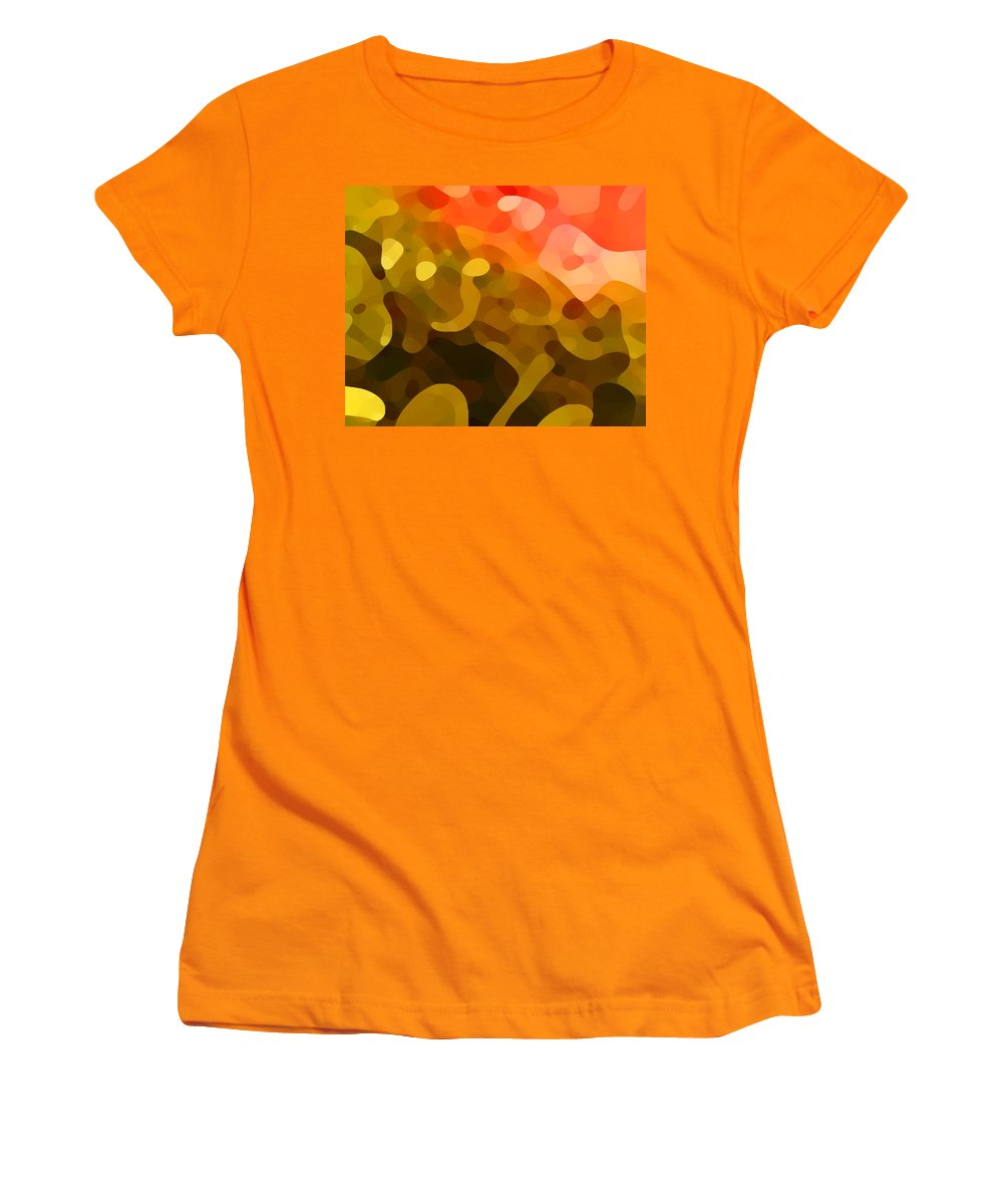 Abstract Women's T-Shirt (Athletic Fit) featuring the painting Spring Day by Amy Vangsgard