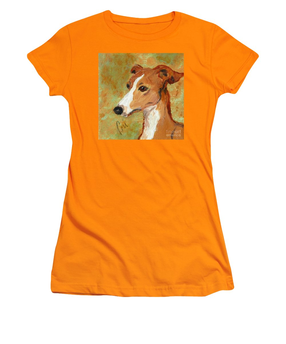 Acrylic Women's T-Shirt (Athletic Fit) featuring the painting Treasured Moments by Cori Solomon