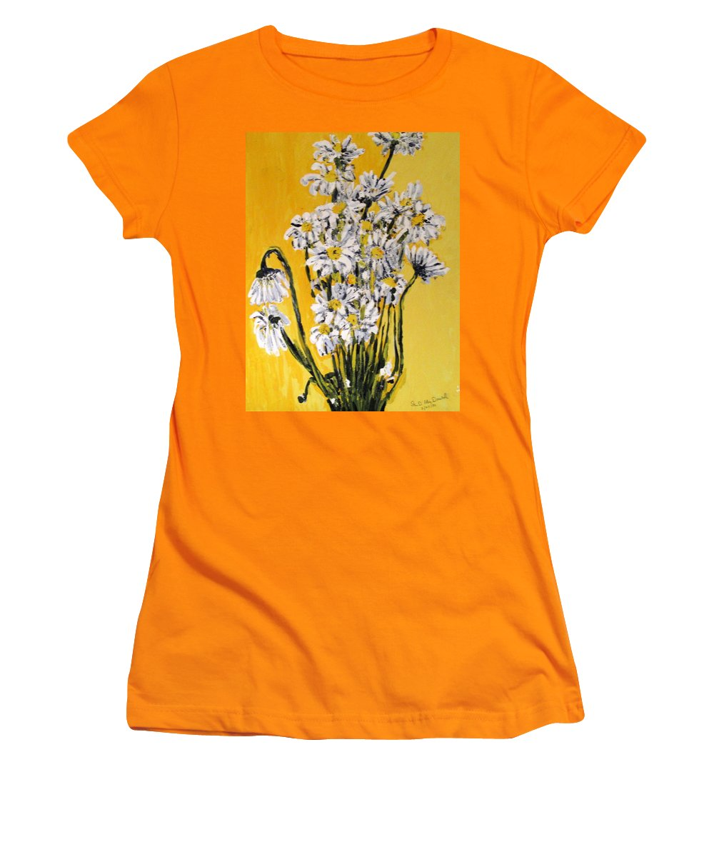 Daisy Women's T-Shirt (Athletic Fit) featuring the painting Yellow by Ian MacDonald
